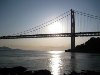 因島大橋 日の出