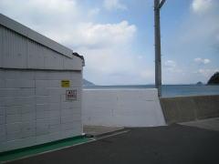 石田造船の波止入り口
