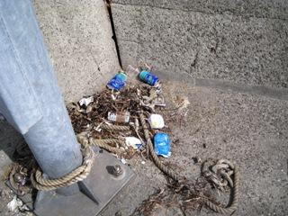 小用港のゴミ