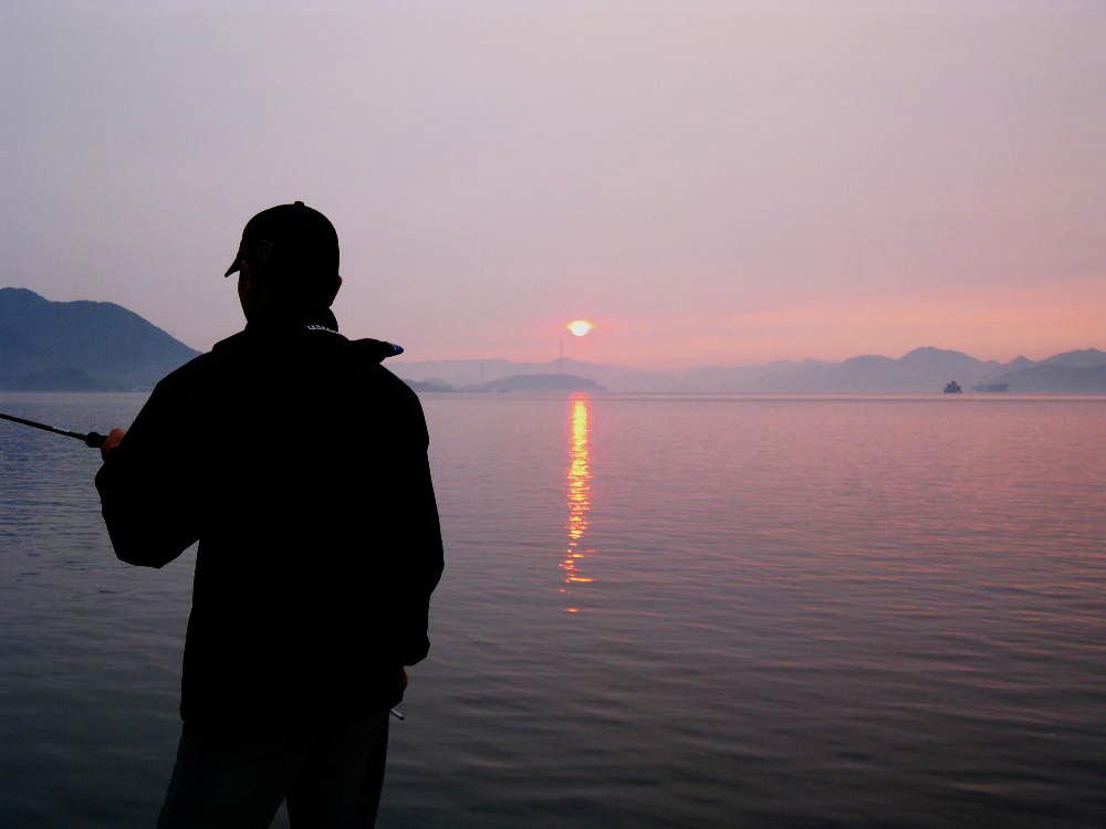 垂水港の夕マズメ
